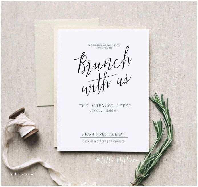 Wedding Brunch S Brunch With Us • Printable Morning After Brunch
