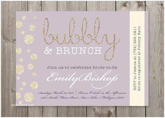 Wedding Brunch Invitations Bubbly & Brunch Champagne Bridal Shower