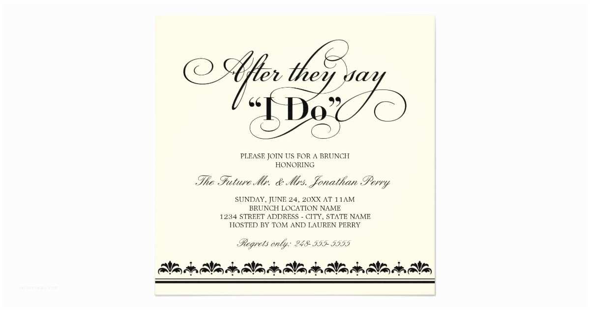 Wedding Brunch Invitations Day After Wedding Brunch Invitation Wedding