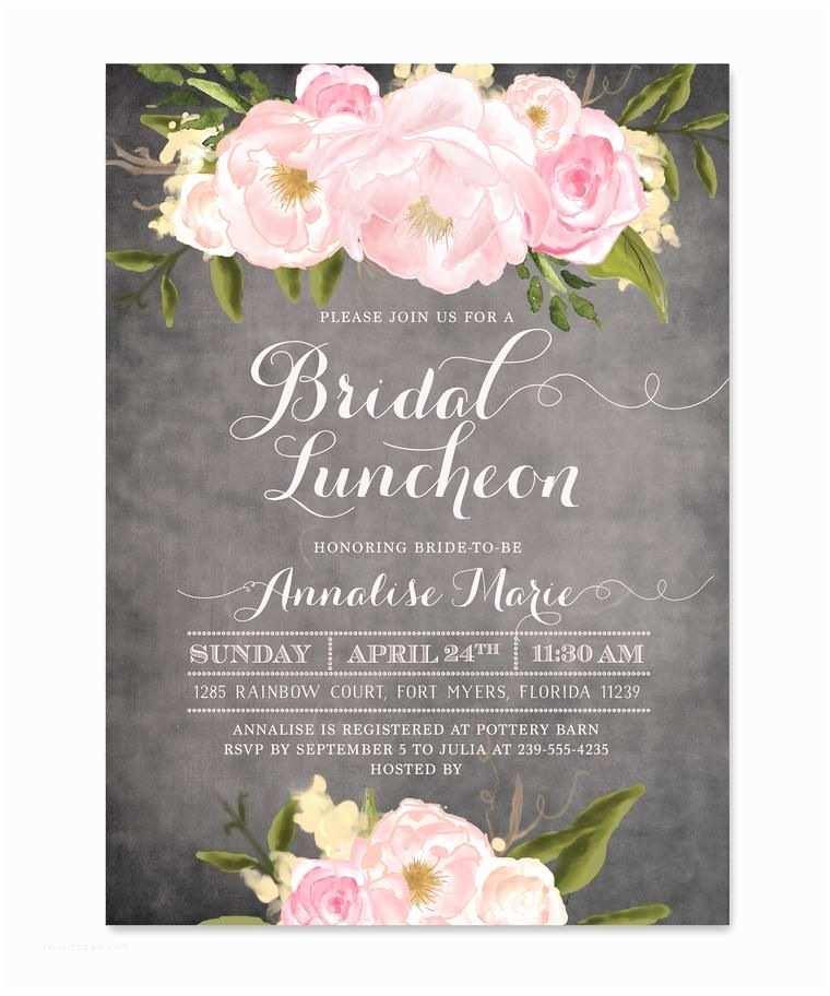 Wedding Brunch Invitations Emily Bridal Luncheon Invitation