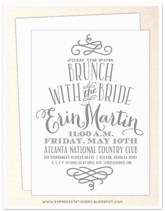 Wedding Brunch Invitations Pinterest • The World's Catalog Of