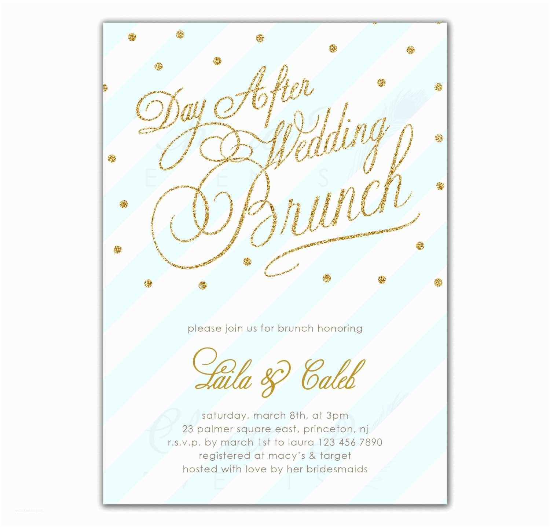 Wedding Brunch Invitations Post Wedding Brunch Invitation Printed Or Printable By