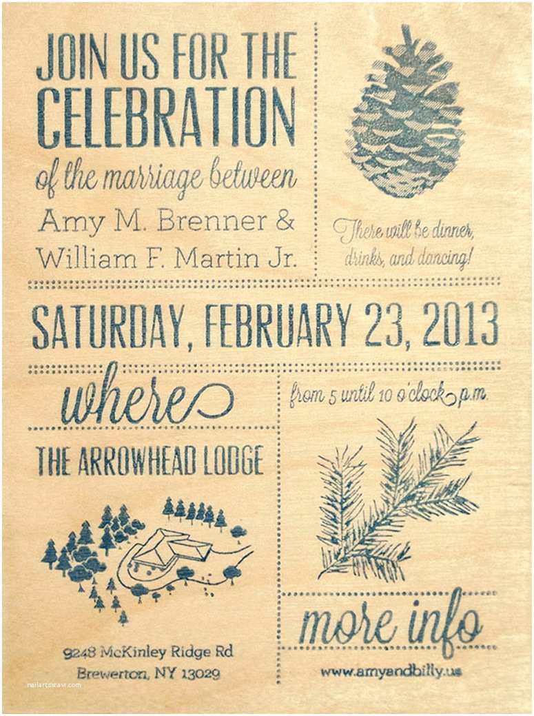 amy billys wedding celebration invitation