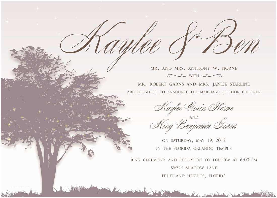 Invitations Wedding Ceremony Invitation