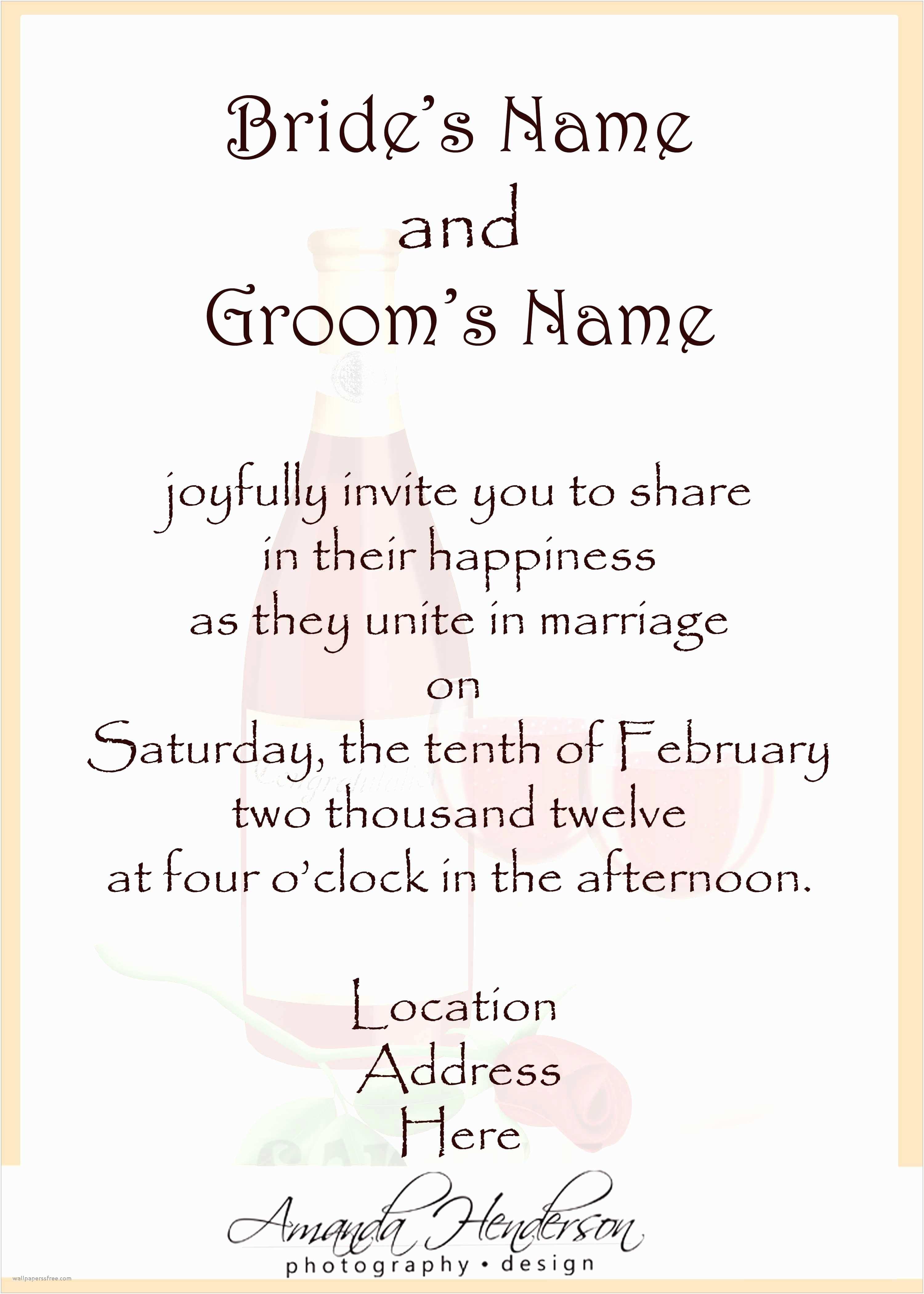 Wedding Celebration Invitations Wedding Celebration Invitation