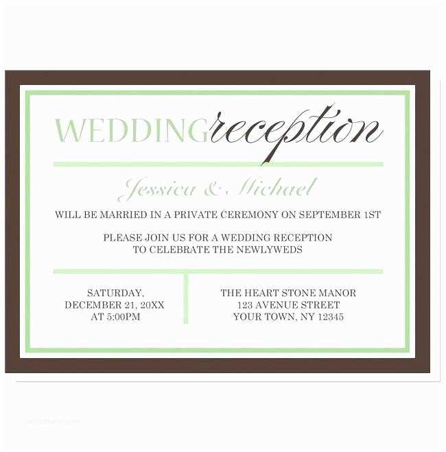 Wedding Ceremony Invitation Wording Luxury Wedding Reception Invitation Wording after Private