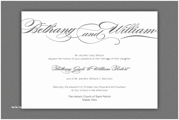 Wedding Ceremony Invitation Wording Wedding Invitation Wording Ceremony and Reception Matik
