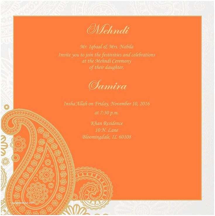 Wedding Ceremony Invitation Wording Wedding Invitation Wording for Mehndi Ceremony
