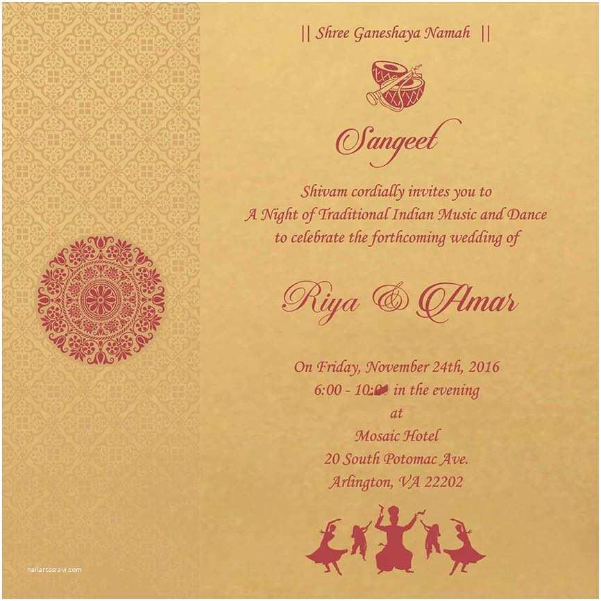 Wedding Ceremony Invitation Wording Wedding Invitation Wording for Sangeet Ceremony