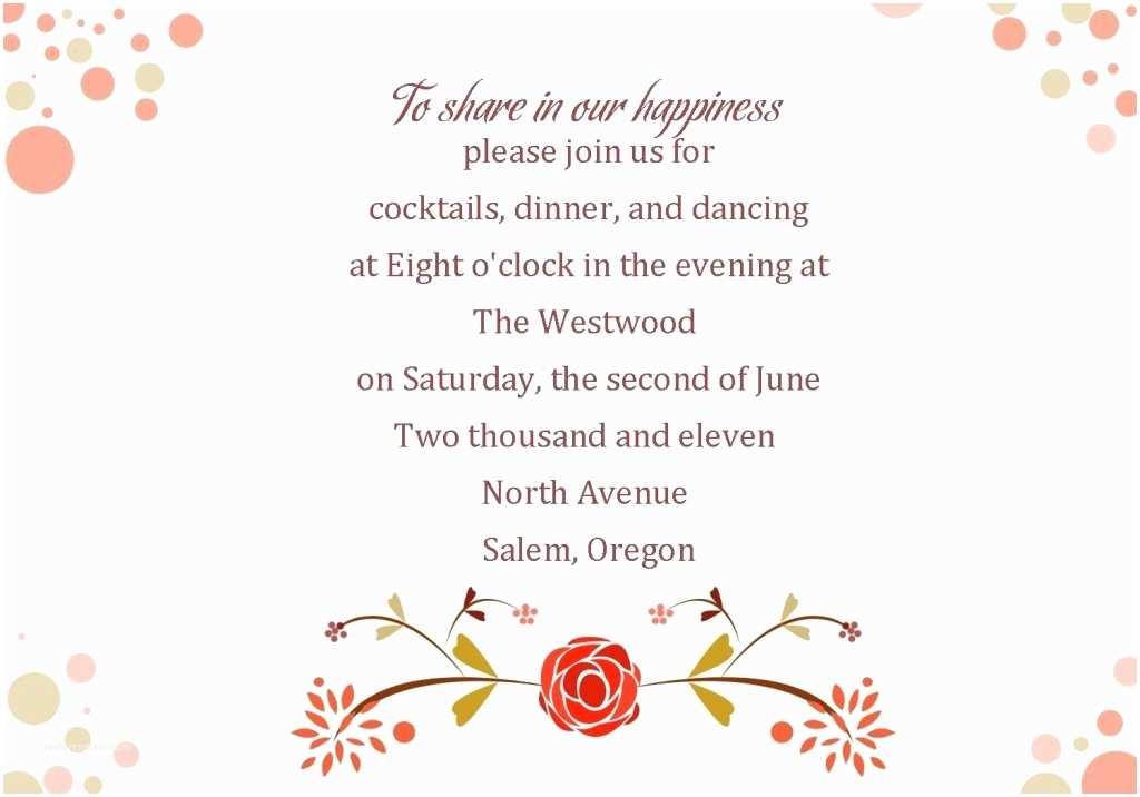 Wedding Ceremony Invitation Wording Wedding Reception Invitation Wording