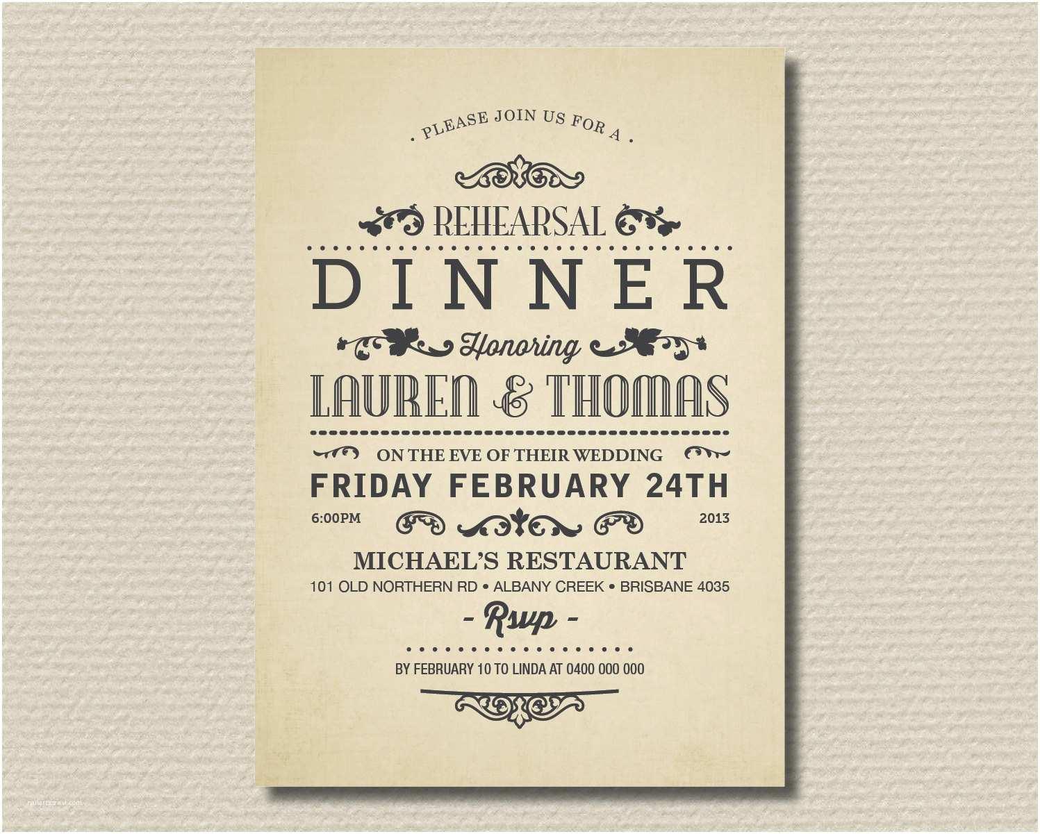 Wedding Dinner Party Invitation Wording Dinner Party Invitation Wording Template