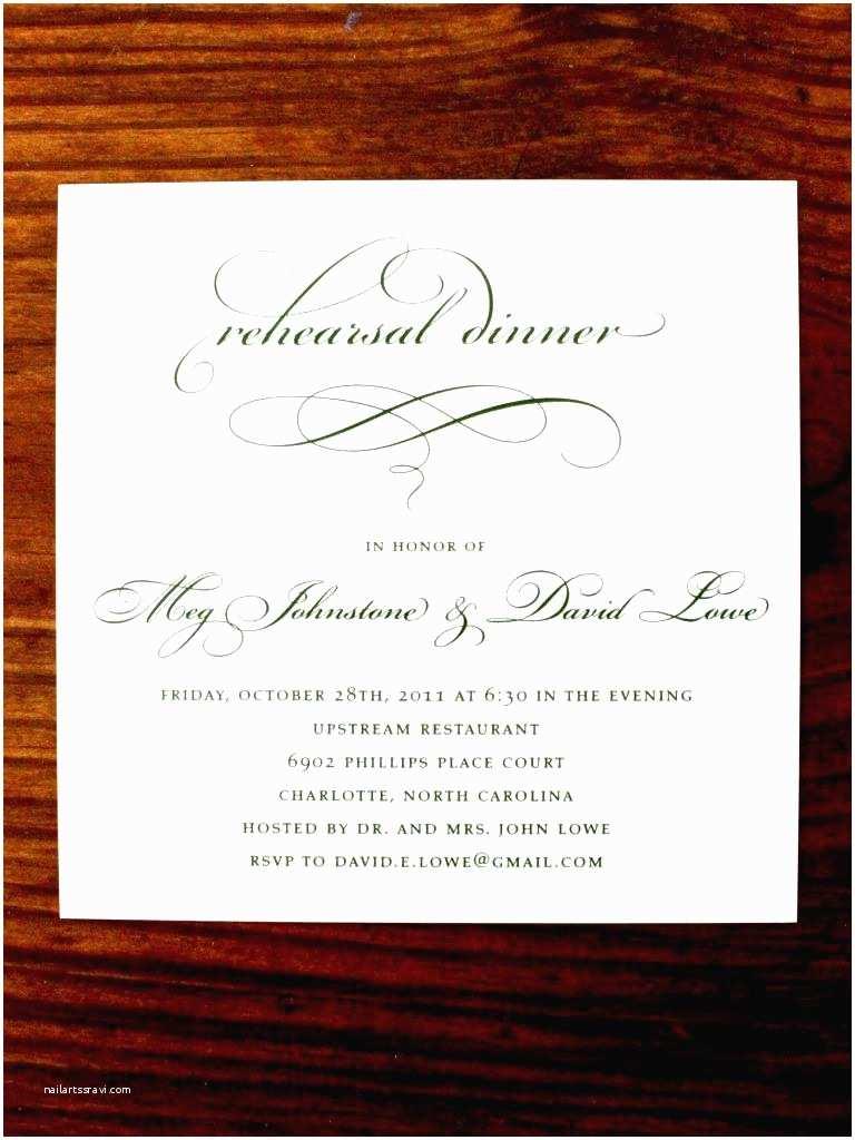 Wedding Dinner Party Invitation Wording formal Invitation Card for Dinner Party