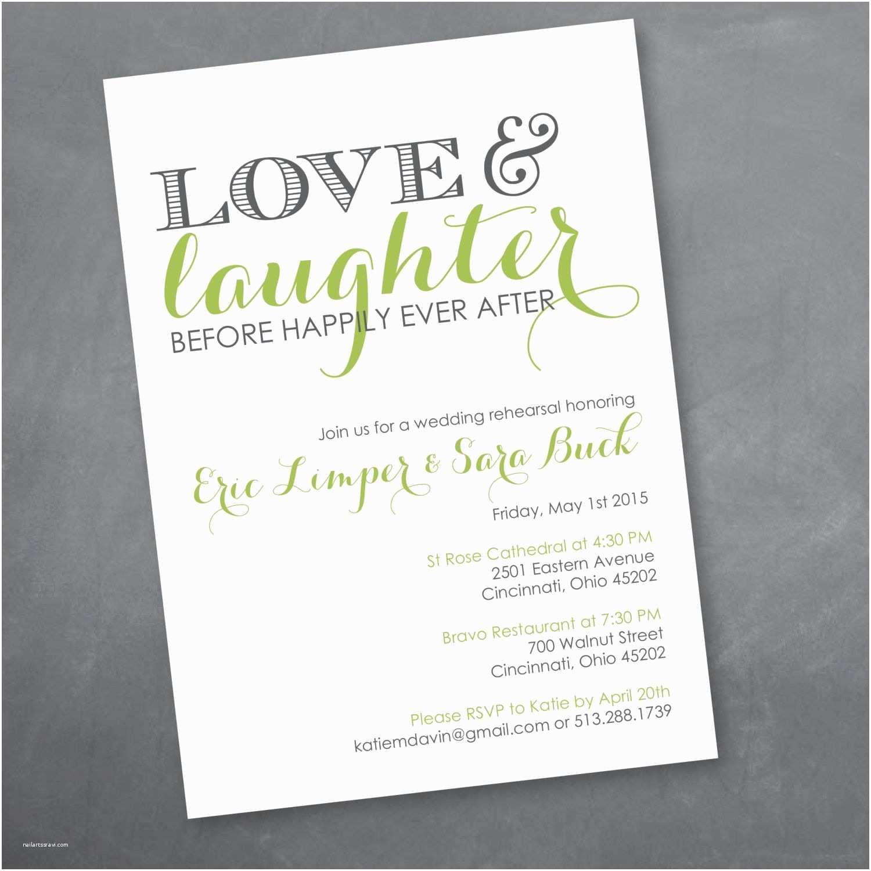 Wedding Dinner Party Invitation Wording Love and Laughter Rehearsal Dinner Invitation Digital