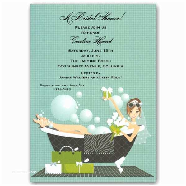Wedding Divas Bridal Shower Invitations Bathtub Diva Bridal Shower Invitations