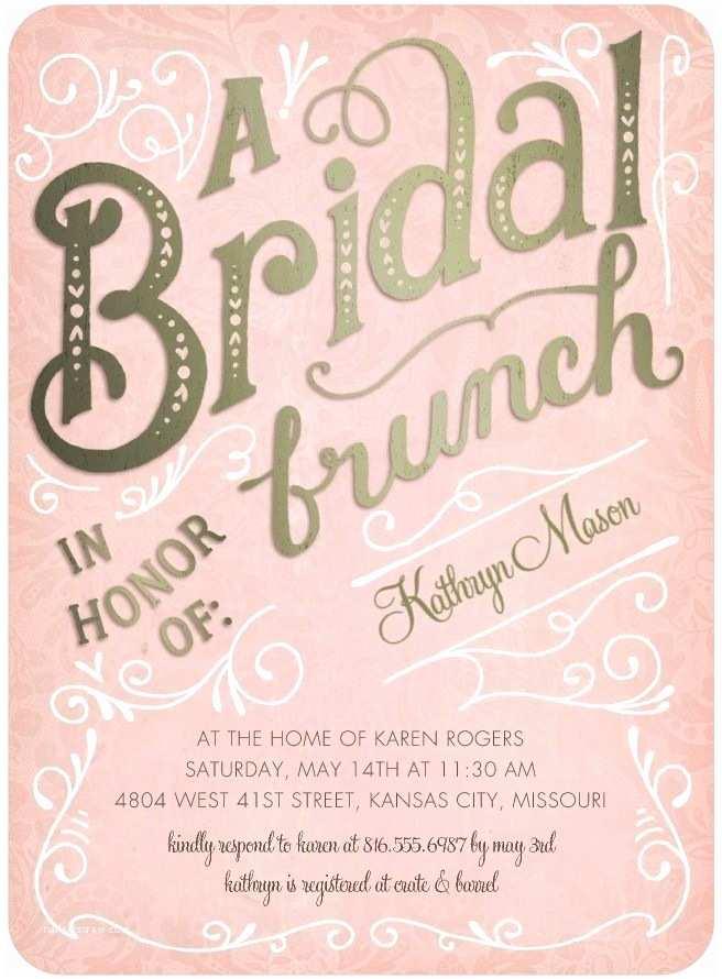 Wedding Divas Bridal Shower Invitations Bridal Brunch Signature White Bridal Shower Invitations