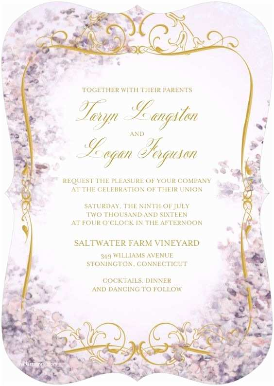 Wedding Divas Bridal Shower Invitations Earthly Paradise Signature White Wedding Invitations In