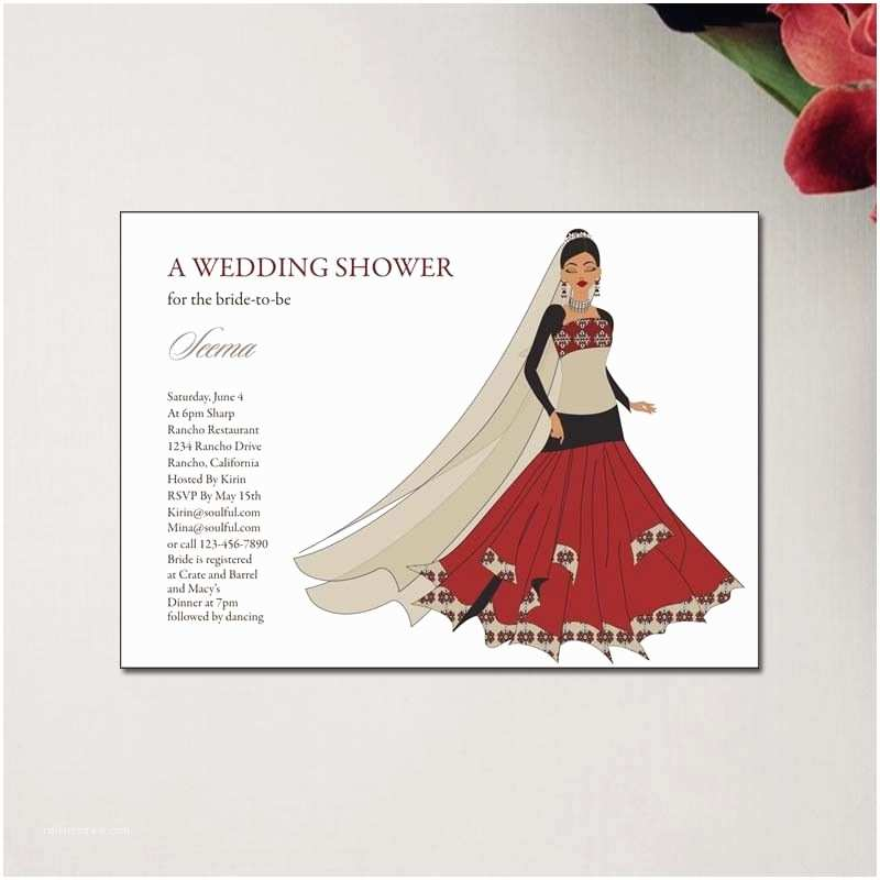 Wedding Divas Bridal Shower Invitations Unique Indian Bridal Shower Invitations From soulfulmoon