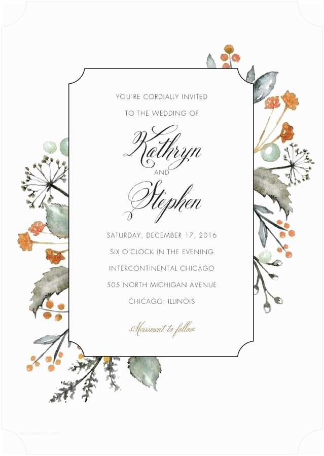 Wedding Divas Bridal Shower Invitations Verdant Bouquet Signature White Wedding Invitations In