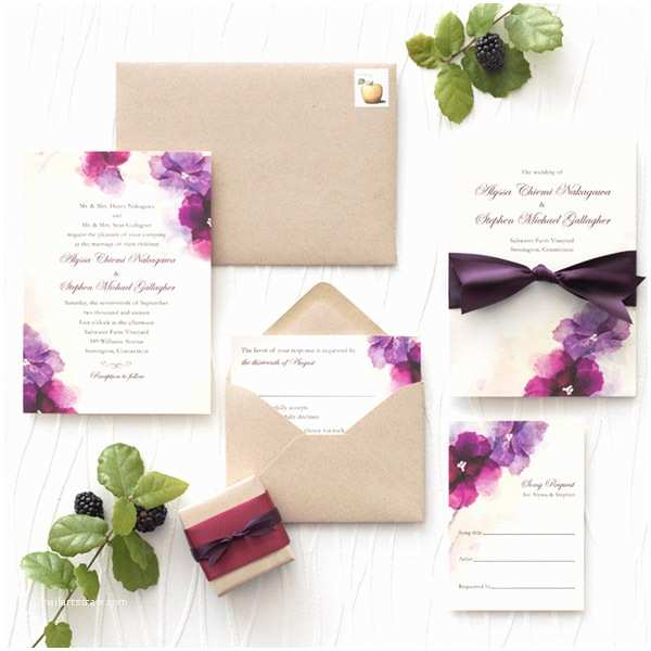 Wedding Divas Wedding Invitations Watercolor Dream A Wedding theme Infused with soft