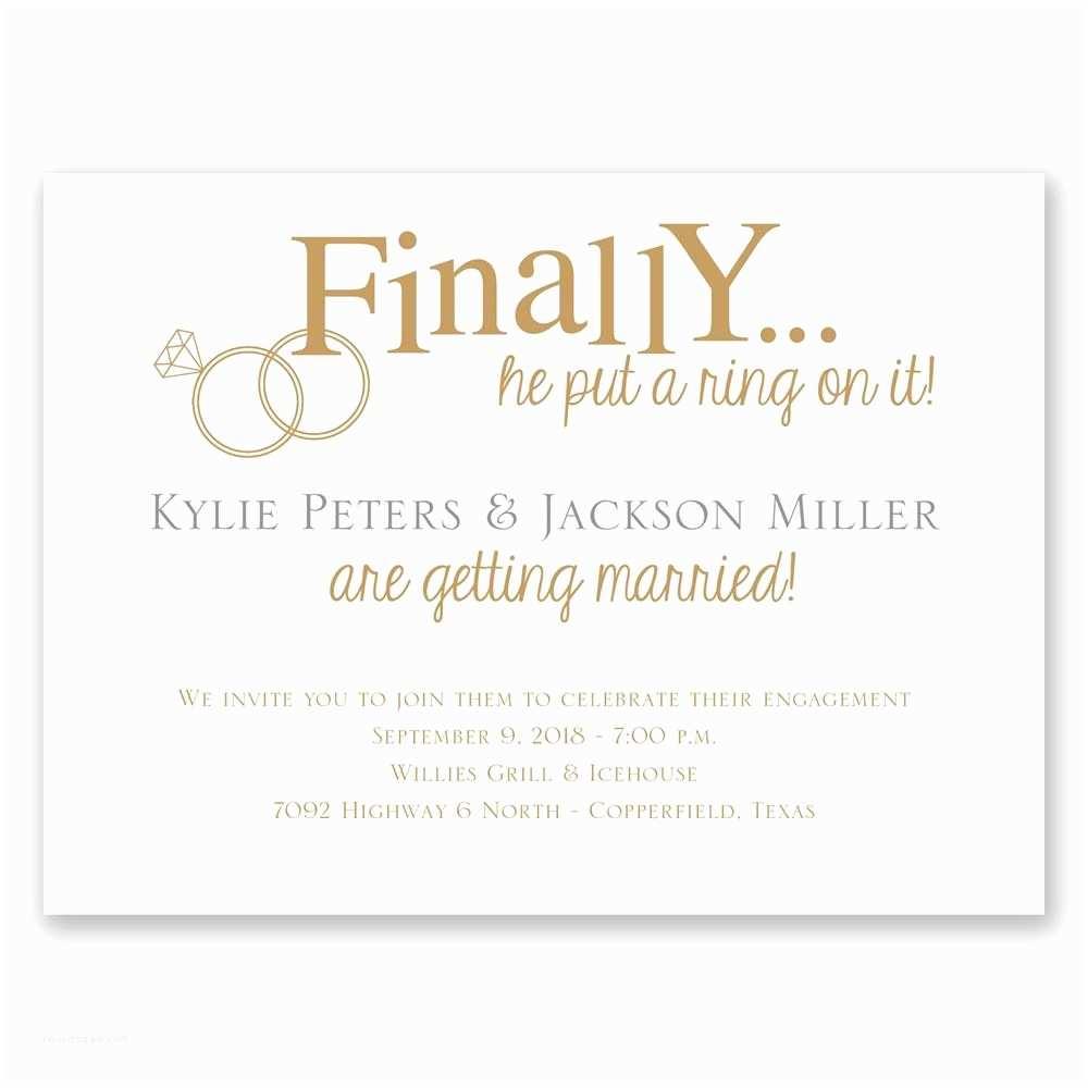 Wedding Engagement Invitation Finally Petite Engagement Party Invitation