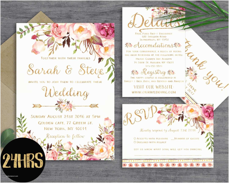 Wedding Engagement Invitation Floral Wedding Invitation Template Wedding Invitation