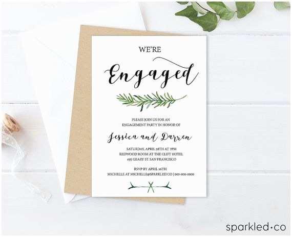 Wedding Engagement Party Invitations Best 25 Engagement Invitation Template Ideas On Pinterest