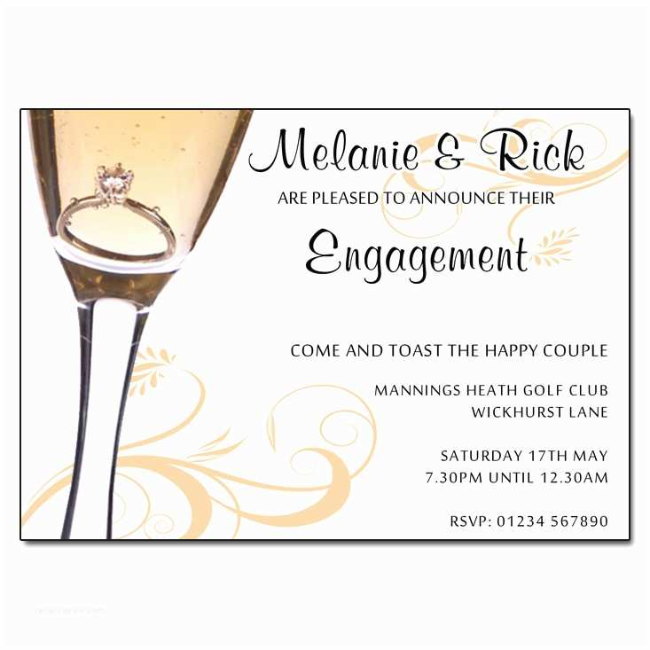 Wedding Engagement Party Invitations Proposal Engagement Invitation