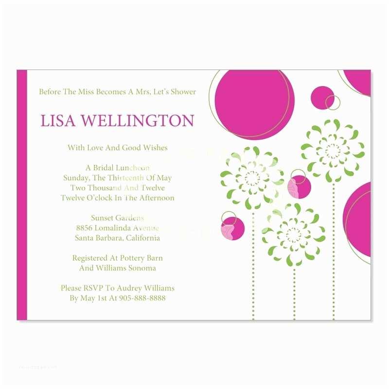 Wedding Etiquette Invitations Bridal Shower Invite Etiquette Template