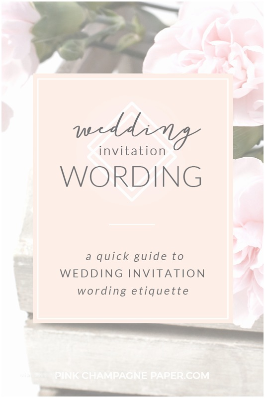 Wedding  Invitations Quick Guide To Wedding Invitation Wording