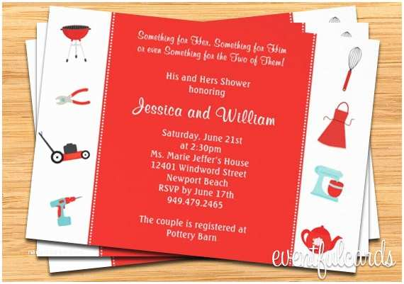 Wedding Gift Using Invitation Couple Wedding Shower Invitation His and Hers Gifts