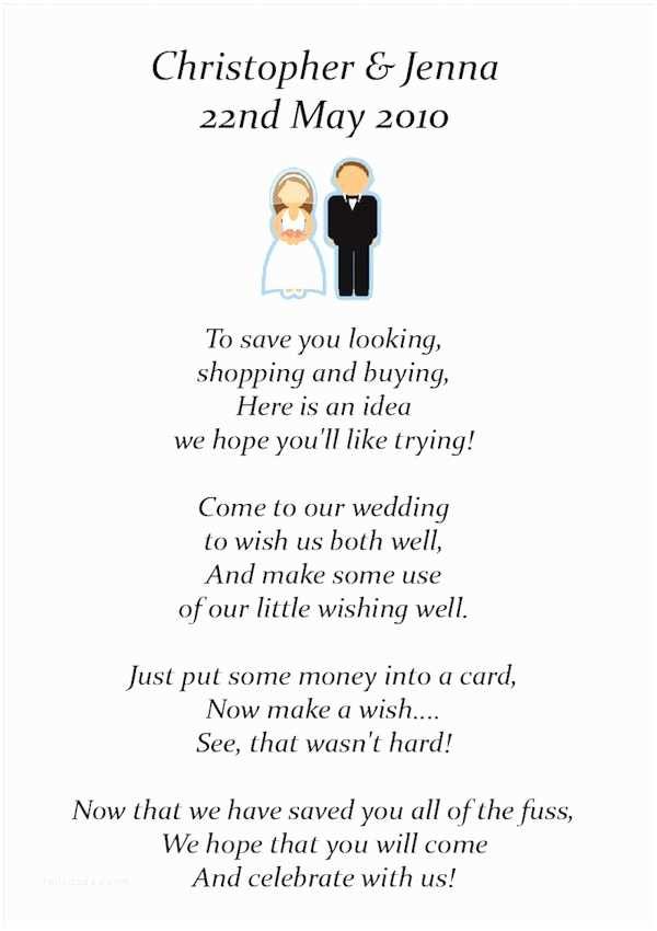 Wedding Gift Using Invitation Money Instead Of Wedding Ts Poem Google Search