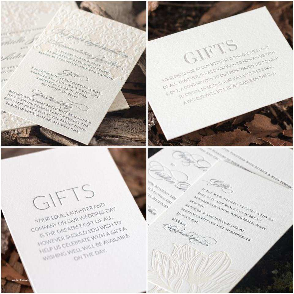 Wedding Gift Using Invitation Wedding Invitation Wording For
