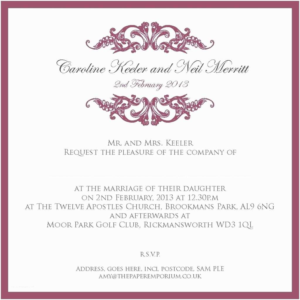 Wedding Invitation 2017 Civil Wedding Invitation Wording