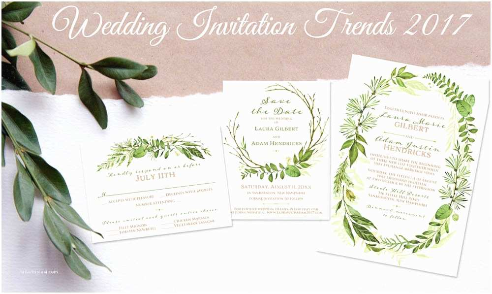 Wedding Invitation 2017 Party Simplicity 2017 Wedding Invitation Trends Party