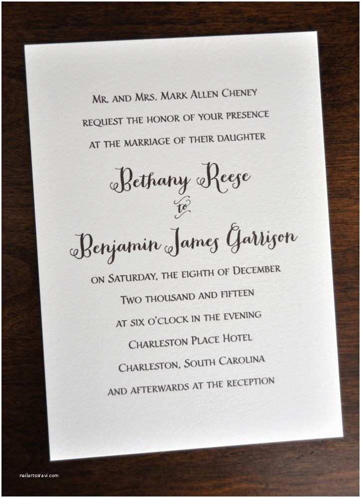 Wedding Invitation 2017 Wedding Invitation Traditional