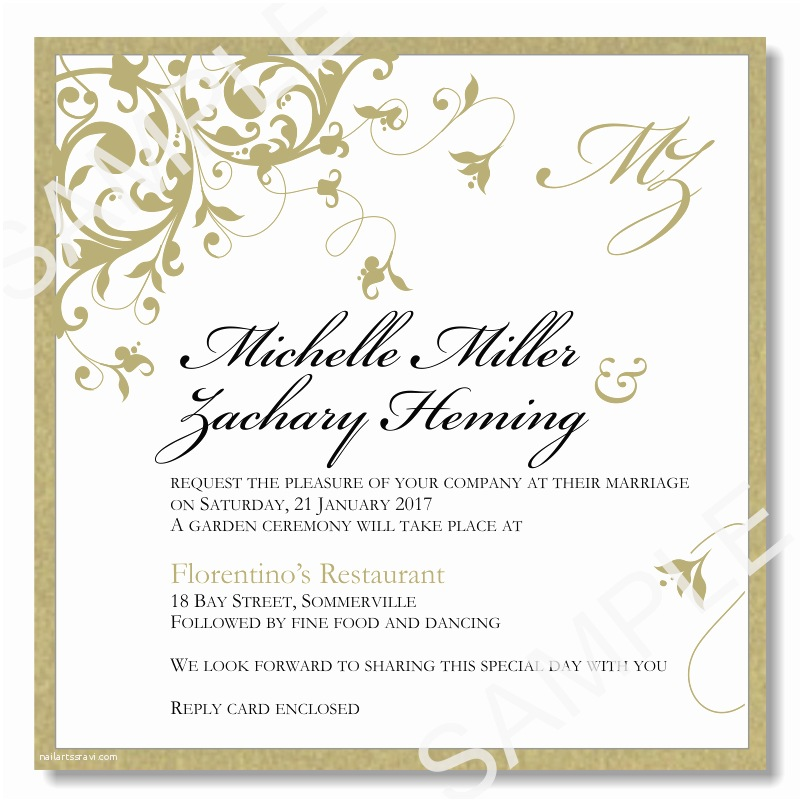 Wedding Invitation 2017 Wedding Invitations Template Word