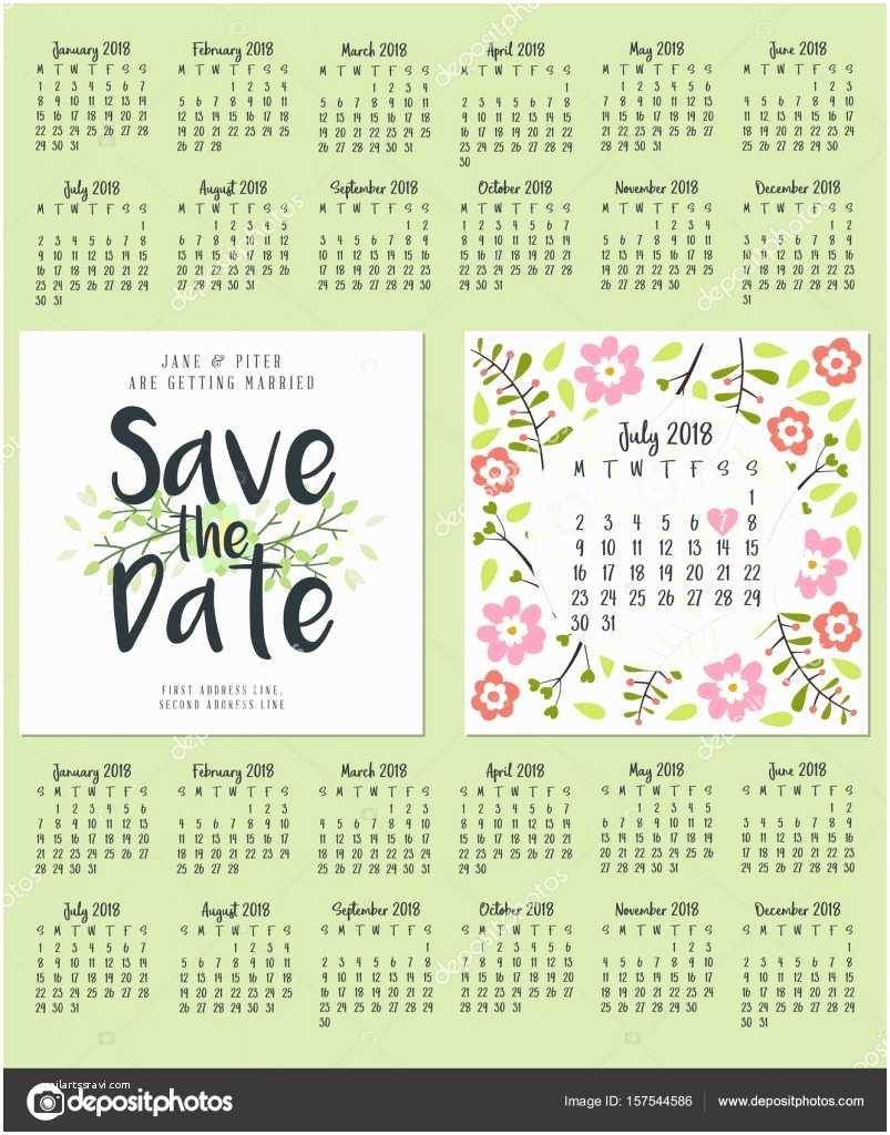 Wedding Invitation 2018 2018 Calendar Wedding – Merry Christmas & Happy New Year