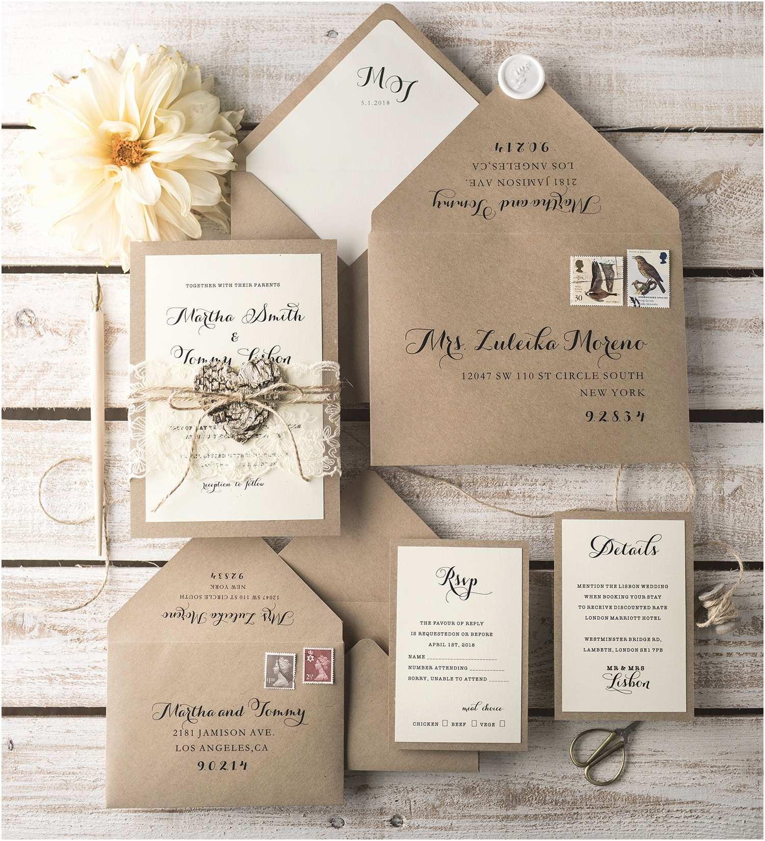 Wedding Invitation 2018 Rustic Wedding Invitations Sansalvaje