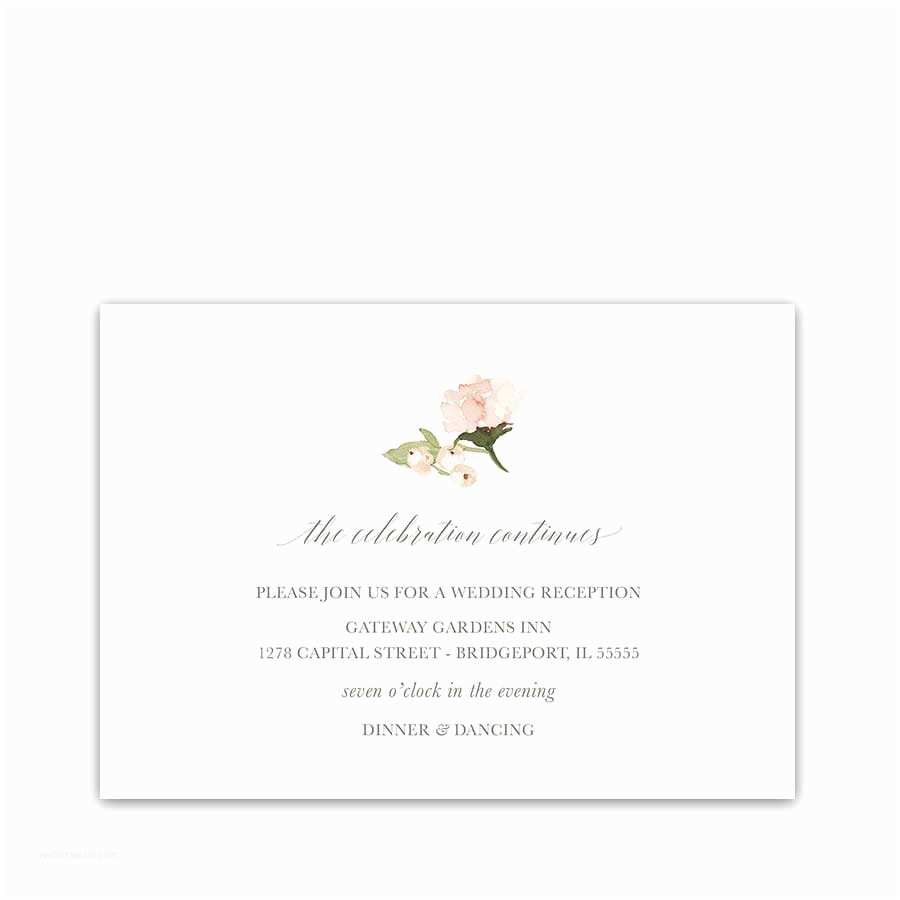 Wedding Invitation 2018 Wedding Reception Information Cards 2018 Wedding Colors