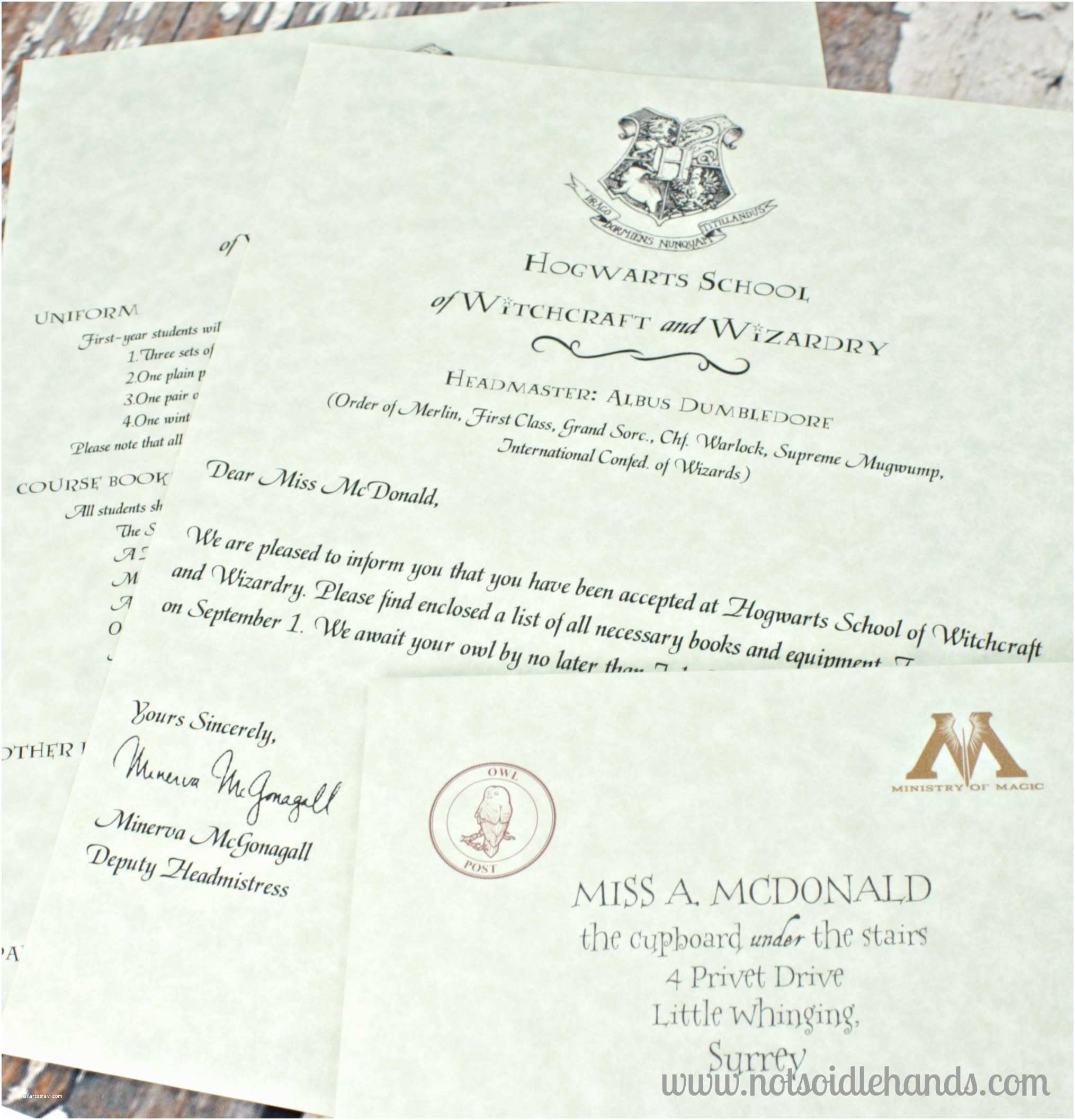 Wedding Invitation Acceptance Letter Harry Potter Birthday Invitations and Authentic Acceptance