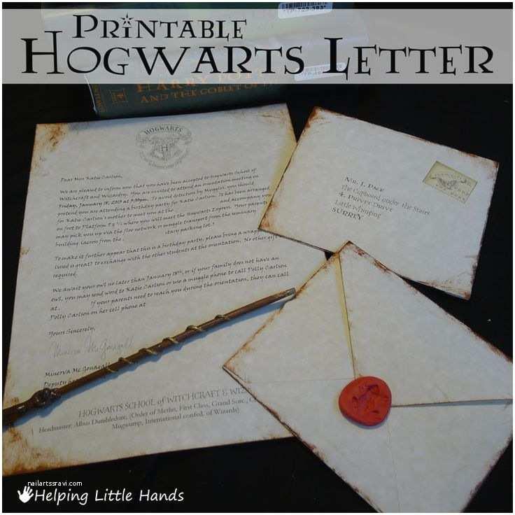 Wedding Invitation  Letter Helping Little Hands Printable Hogwarts