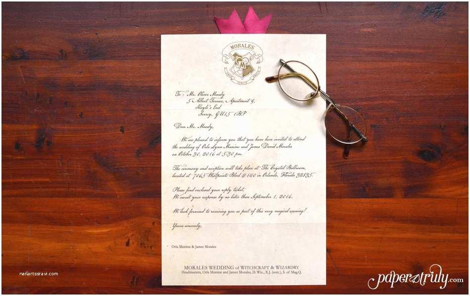 Wedding Invitation Acceptance Letter Loviosa Wizard S Letter Invitation Paper Truly