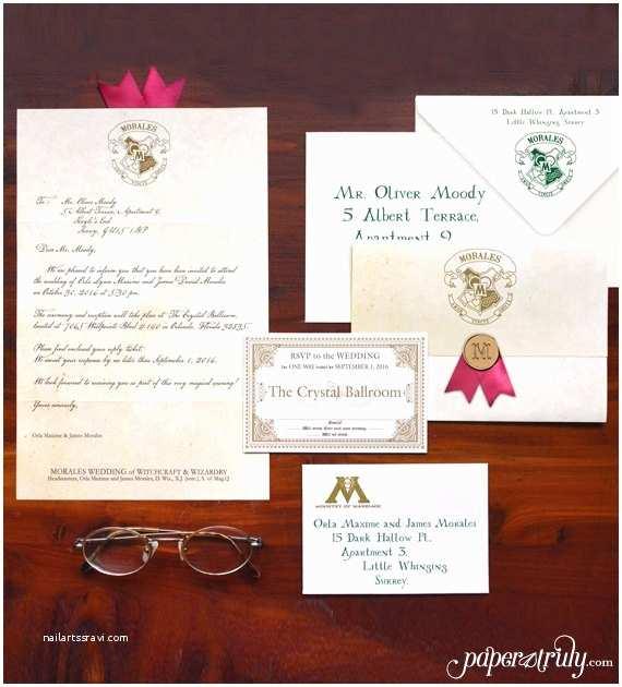 Wedding  Acceptance Letter Loviosa Wizarding Acceptance Letter Wedding