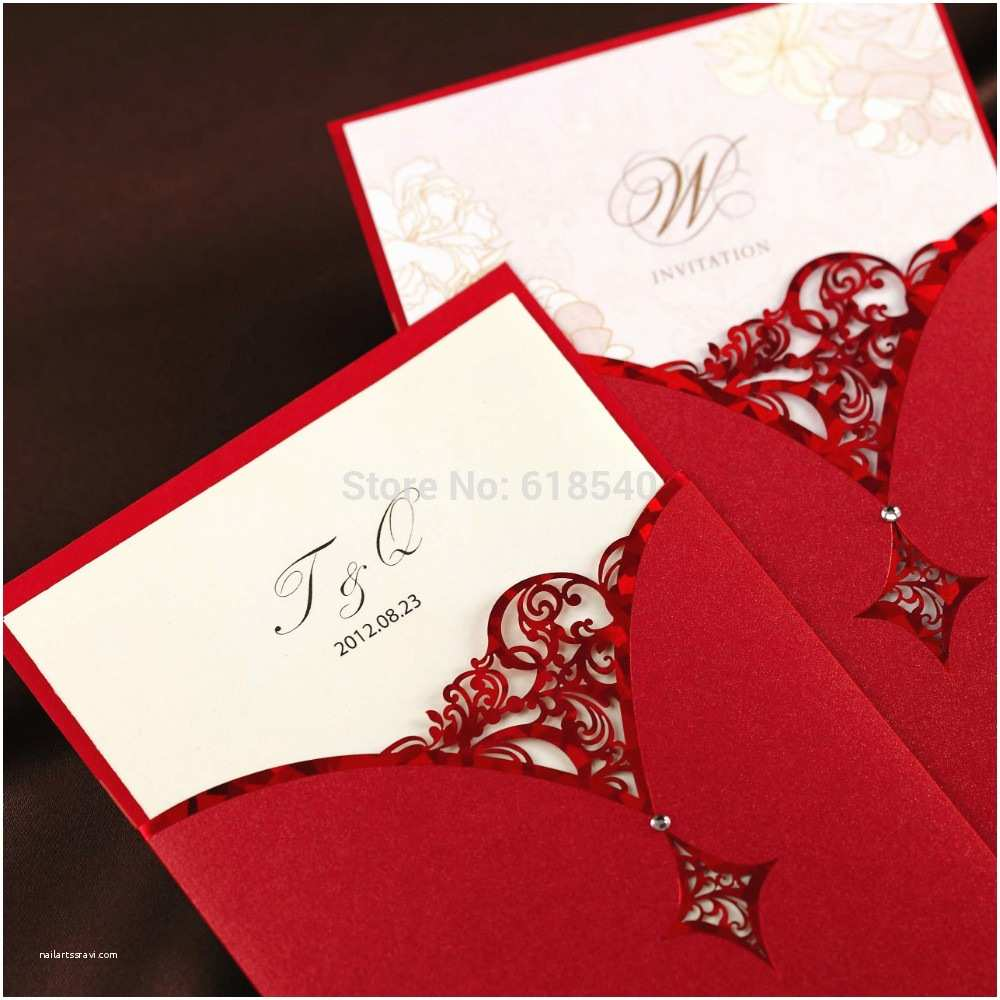 Wedding Invitation Accessories Free Shipping Free Printing Personalized Cutout Design Red