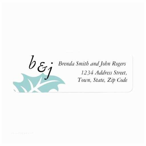 Wedding Invitation Address Labels Winter Wedding Invitation Return Address Labels