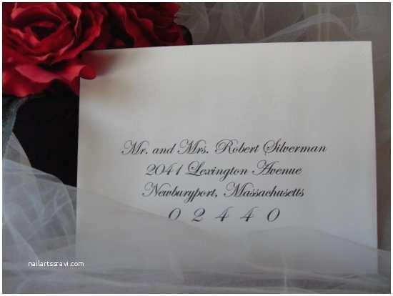 Wedding Invitation Addressing Service Boston Wedding Calligraphy Envelope Addressing Service