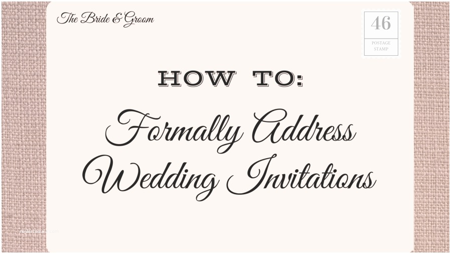Wedding Invitation Addressing Service How to Address Wedding Invitations southern Living