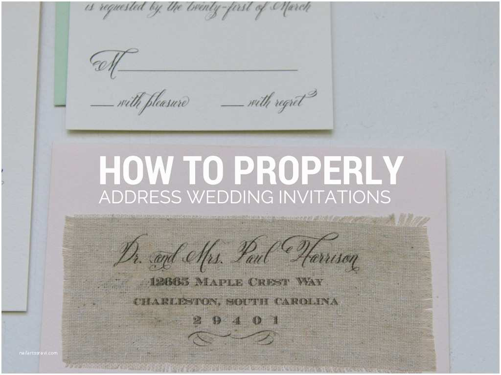 Wedding Invitation Addressing Service How to Select the Address Wedding Invitations to Families