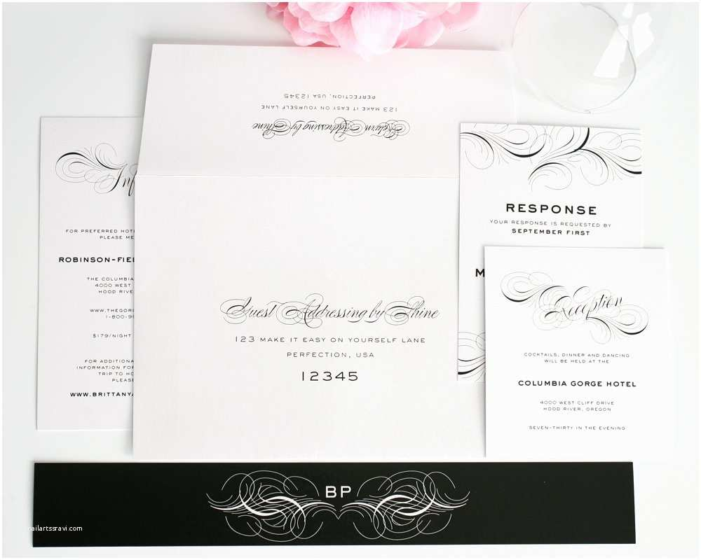 Wedding Invitation Addressing Service Luxe Flourish Wedding Invitations Wedding Invitations by