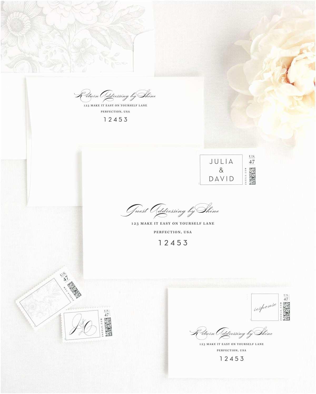 Wedding Invitation Addressing Service Luxury Wedding Invitations with Platinum Silk Ribbon